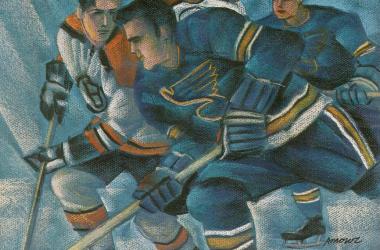 Blues-Bruins 1970 Stanley Cup program