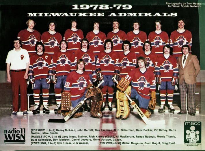 1978-79 Milwaukee Admirals team photo