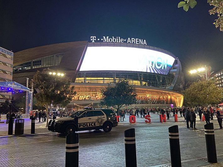 T-Moblile Arena outside view