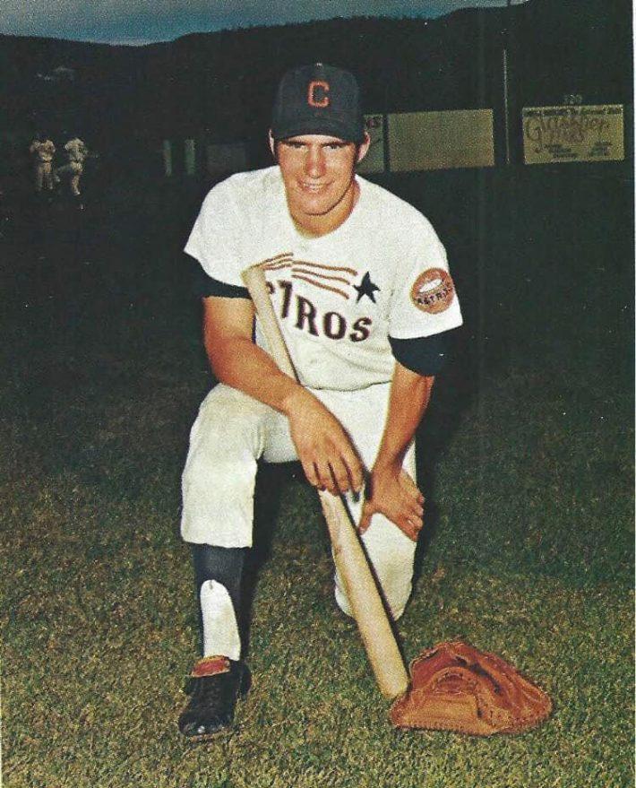 Clark Gillies playing baseball